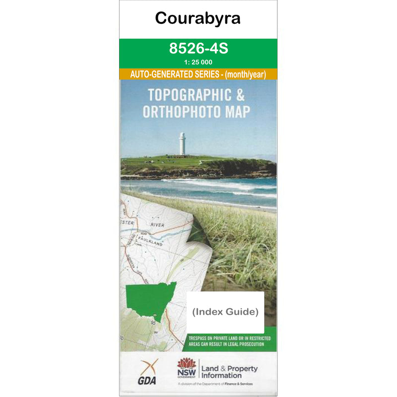 Courabyra 8526-4-S NSW Topographic Map 1 25k