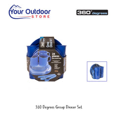 Blue | 360 Degrees Group Dinner Set | Camping