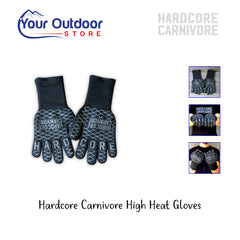 Black | Hardcore Carnivore High Heat Gloves. Hero