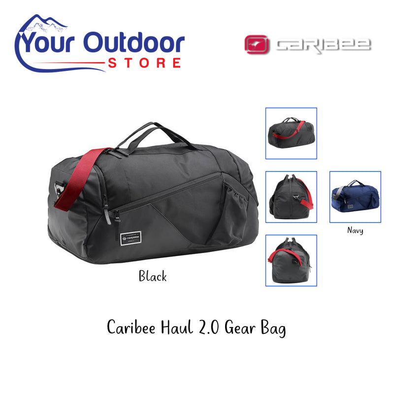 Black | Caribee Haul 2.0 Gear Bag. Hero