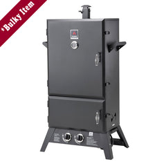 Black | Hark Big Boss Gas Smoker. Front with doors closed