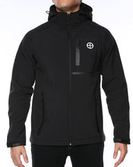 Vigilante Revelstoke II Softshell Jacket. Black. Full Upper body Front view on model. Your Outdoor Store