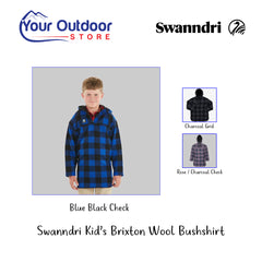 Blue Black Check | Swanndri Kid's Brixton Bush Shirt Hero