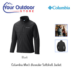 Black | Columbia Mens Ascender SoftShell Jacket. Hero Image