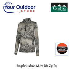 Ridgeline Mens Micro Lite Quarter Zip Long Sleeve Top