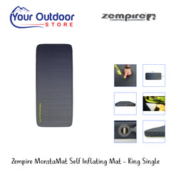 Zempire MonstaMat Self Inflating Camp Mat- King Single
