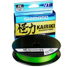Mantis Green | Shimano Kairiki Mysterious Power PE Braided Line. Line Spool with packaging