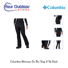 Black | Columbia Womens On The Slope II Pant. Hero