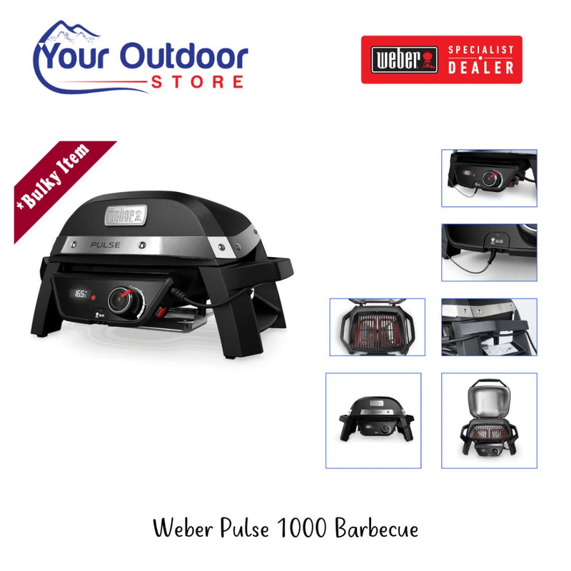 Weber Pulse 1000 Barbecue Black. Part Number 81010024