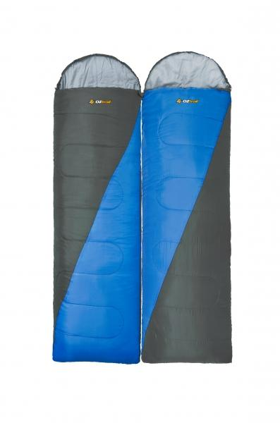 Oztrail Fraser Hooded Sleeping Bag Twin Pack Rated 0