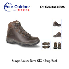 Brown | Scarpa Terra GTX Unisex Hiking Boots. Hero