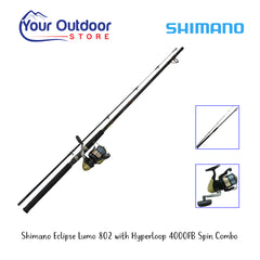 Shimano Eclipse Lumo 802 Rod With Hyperloop 4000FB Pre-Spooled Spin Reel Combo
