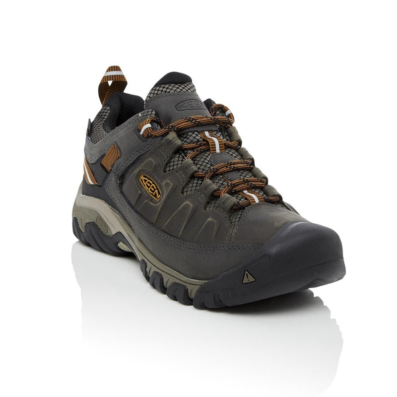 Black Olive, Golden Brown | Keen Targhee III WP Men's. Front Side View. Your Outdoor Store