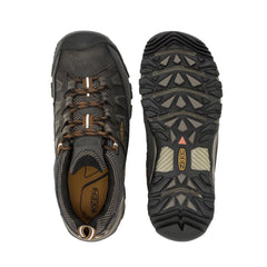 Black Olive, Golden Brown | Keen Targhee III WP Men's. Pair showing one from top view and the other boot showing sole. Your Outdoor Store