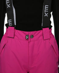 XTM Scoobie Pant. Berry Pink Colour. Close up waist view front. Your Outdoor Store