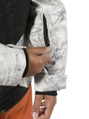 Grey Concrete | XTM Xavier Kids Jacket.  Close up of arm pocket. Your Outdoor Store