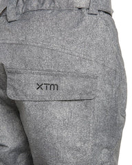 Grey Denim | XTM Smooch II Ladies Ski Pants. Back Pocket/ waist view