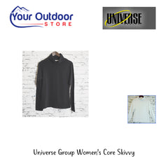 Black | Universe Group Womens core Skivvy- hero