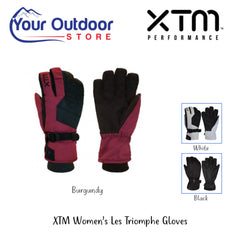 Burgundy | XTM Ladies Les Triomphe Ski Glove-Hero