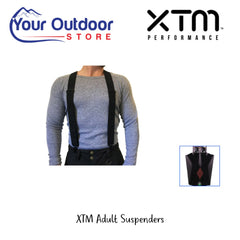 XTM Adult Suspenders- Black. Hero Image