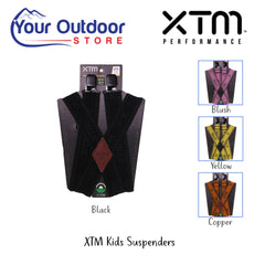 XTM Kids Suspenders / Braces. Black Hero