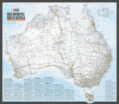 Hema Australia Motorcycle Atlas with 200 Top Rides. Full map of Australia