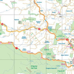 Hema Australia Motorcycle Atlas with 200 Top Rides. Close up map