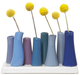 Pooley Tube Vase, Cobalt