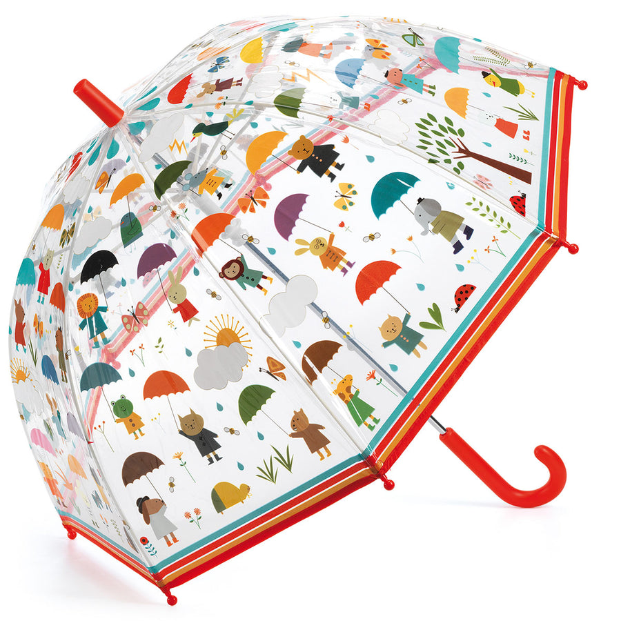 Kid's Umbrella Under the Rain