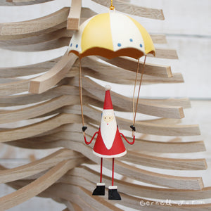 Parachute Santa Ornament 3x7in