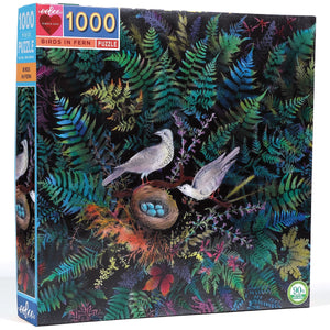 Birds in Fern eeBoo Puzzle 1000pcs