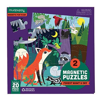 Magnetic Forest Night & Day Galison Puzzle 42pcs