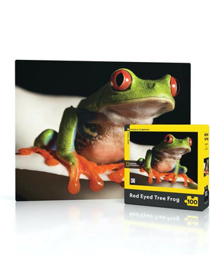 Mini Red Eyed Tree Frog New York Puzzle Company 100pcs