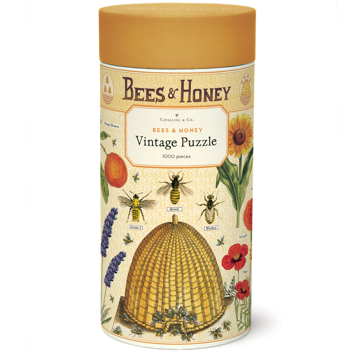 Bees & Honey Cavallini Puzzle Tube 1000pcs