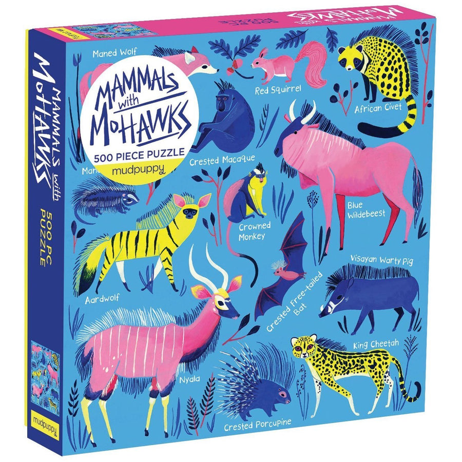 Mammals with Mohawks Mudmuppy Puzzle 500pcs