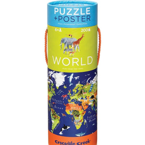 World Animals Crocodile Creek Puzzle 200pcs