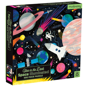 Space Illuminated Glow Family Galison Puzzle 500pcs