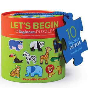 Let's Begin: Jungle Crocodile Creek 10 Beginner Puzzles 2pcs