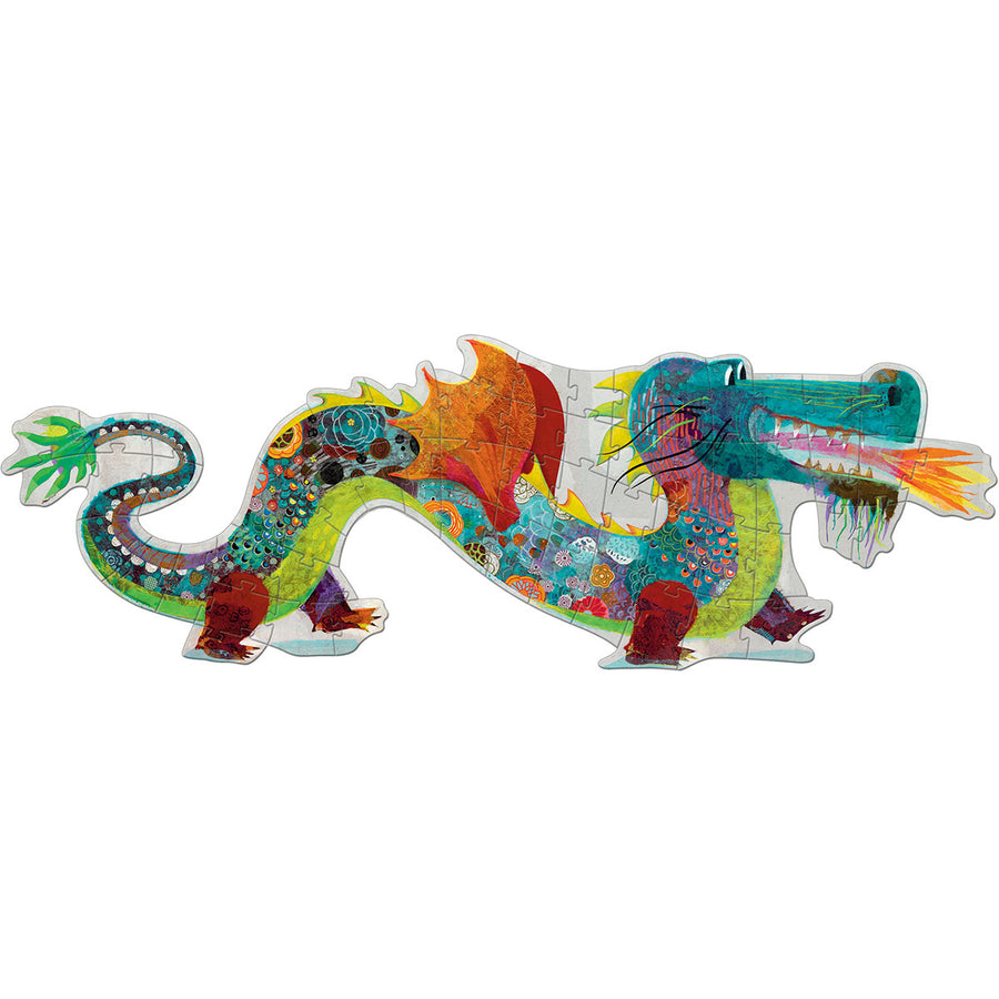 Leon the Dragon Giant Floor Djeco Puzzle 58pcs