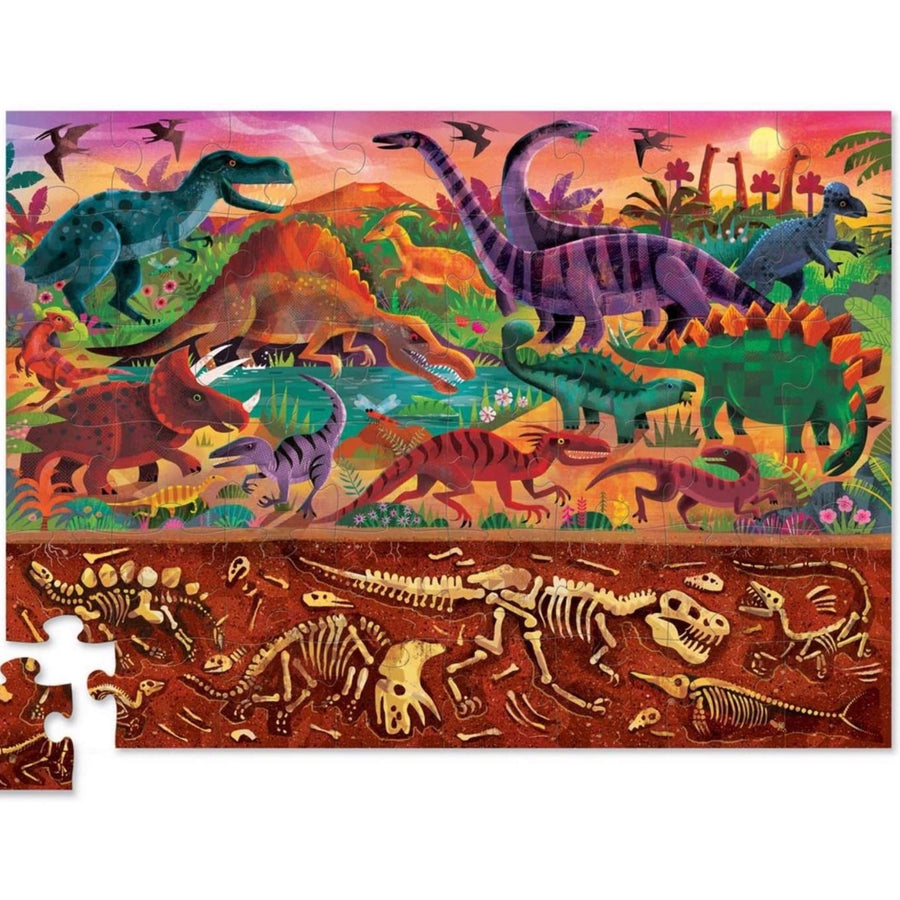 Above & Below Dinosaur World Crocodile Creek Puzzle 48pcs