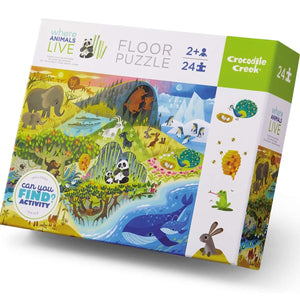 Where Animals Live Crocodile Creek Puzzle 24pcs
