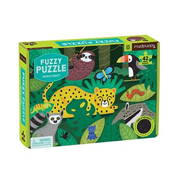Fuzzy Rainforest Mudpuppy Puzzle 42pcs