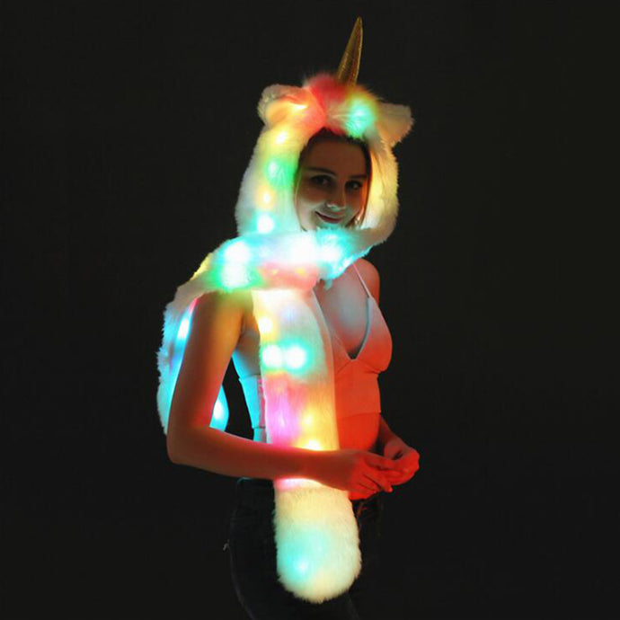Led Unicorn Fur Hat