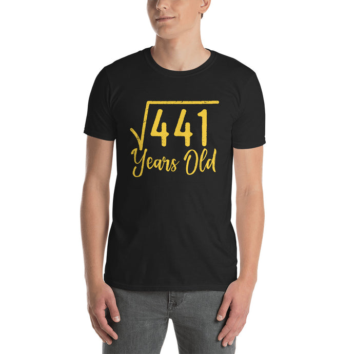 Square Root 441 (21st Birthday) Short-Sleeve Unisex T-Shirt