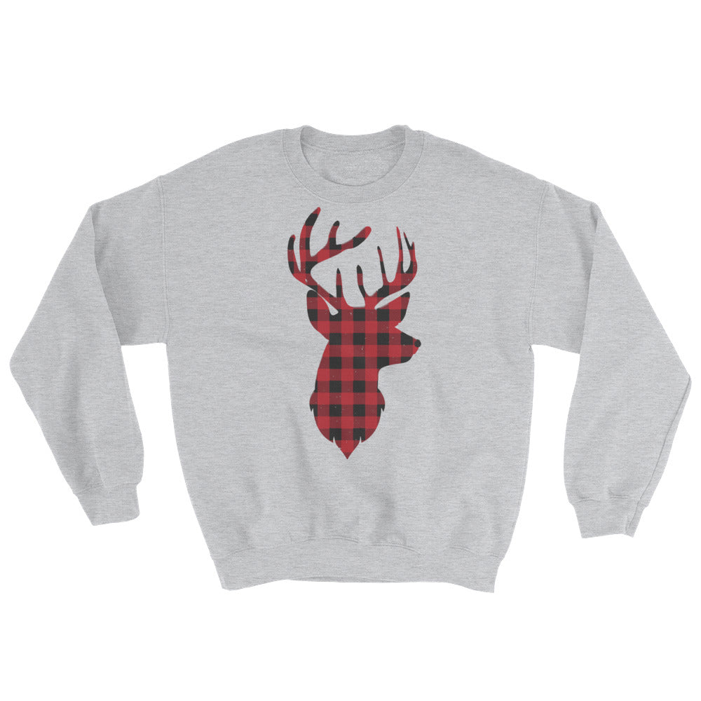 Deer Plaid Sweatshirt