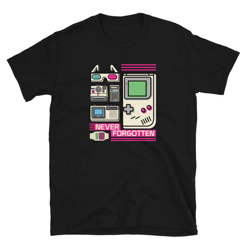 Never Forgotten Retro Vintage Geeky Nerdy T-shirt