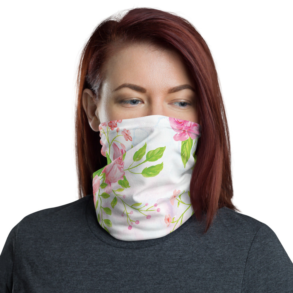 Vintage Flowers Neck Gaiter