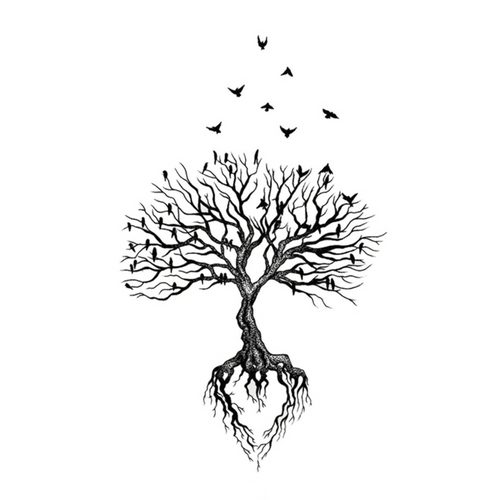 Tree Temporary Tattoo