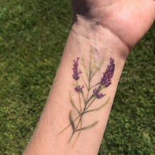 Lavender Temporary Tattoo