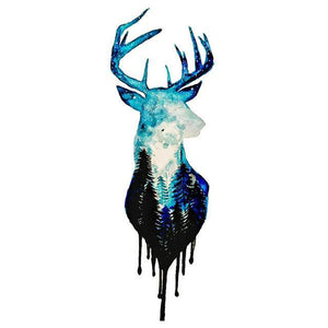 Stag Temporary Tattoo